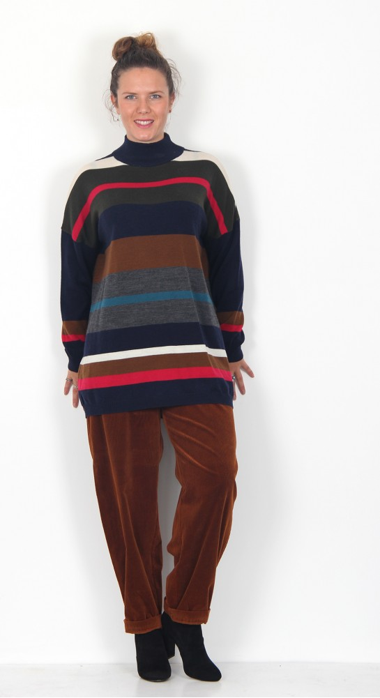 Two Danes Marina Sweater Multi Stripe