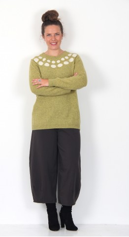 Two Danes Mars Spot Pullover Keylime