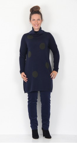 Two Danes Mable Spot Tunic Navy