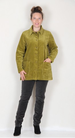Two Danes Clare Corduroy Jacket Green Moss