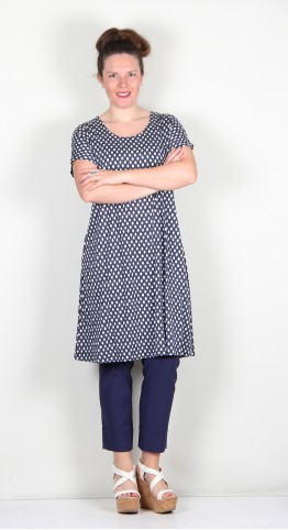 Two Danes Bliss Bamboo/Cotton Tunic/Dress Mood Indigo Spot