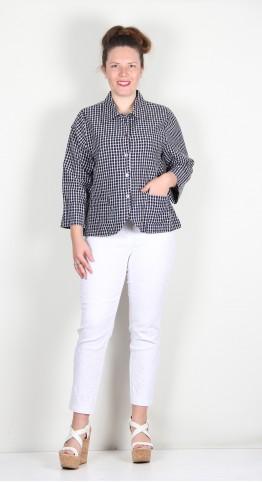 Two Danes Sybil Cotton Shirt/Jacket Navy Blazer