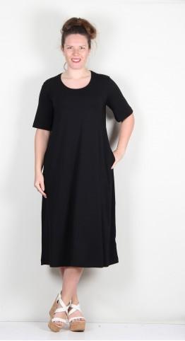 Two Danes Byanka Dress Bamboo/Cotton Jersey Black