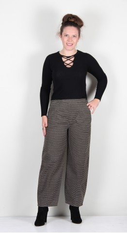 Two Danes Willa Trousers Hunter Green Combo