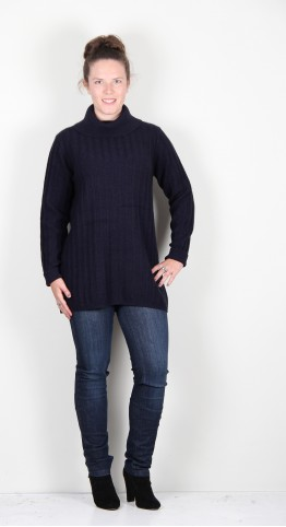 Two Danes Yolene Yak Cowl Neck Sweater Midnight