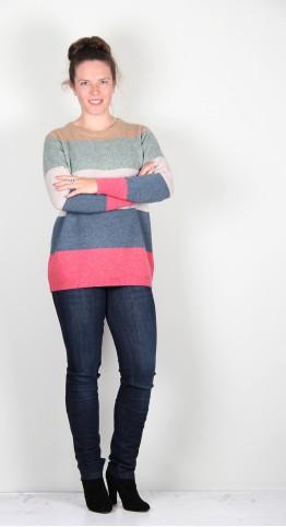 Two Danes Strega Stripe Pullover Multi