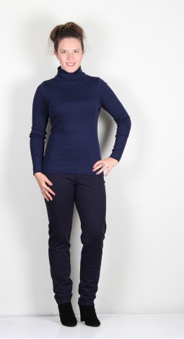 Two Danes Agnes Roll Neck Tee French Navy