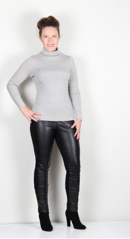 Two Danes Agnes Roll Neck Tee Fog