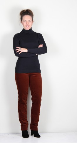 Two Danes Agnes Roll Neck Tee Black