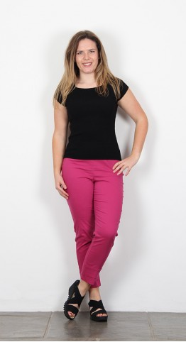 Vetono Stretch Cotton 7/8 Trouser  Fushia