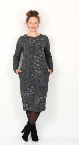 Vetono Jersey Bubble Dress Grey
