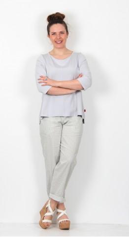 Vetono Half Sleeve Shirt Silver Grey