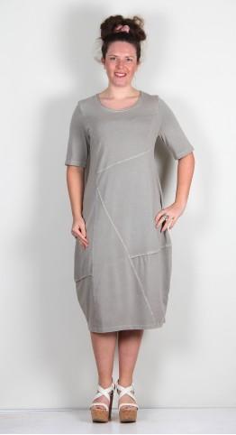 Vetono Cotton Jersey Bubble Dress Khaki