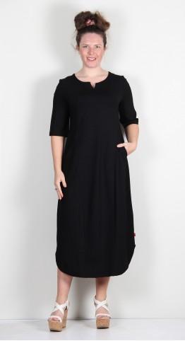 Vetono Jersey Panel Dress Black