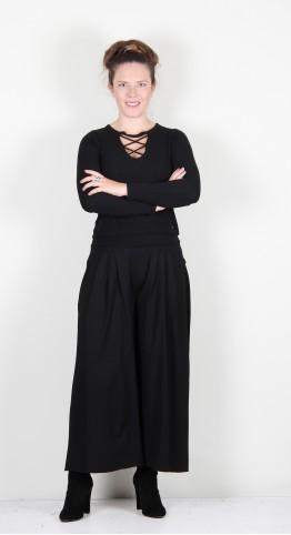 Vetono Soft Top Culottes Black