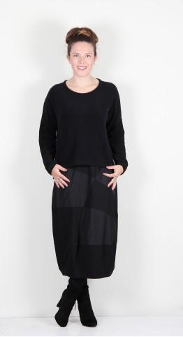 Vetono Super Soft Fleece Pocket Sweater Black