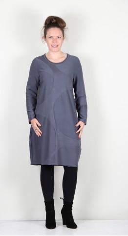 Vetono Knit Bubble Dress Smoke Blue