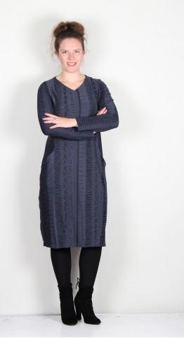 Vetono Ikat Jersey Dress Blue