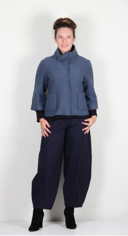 Vetono Boiled Wool Jacket Smoke Blue