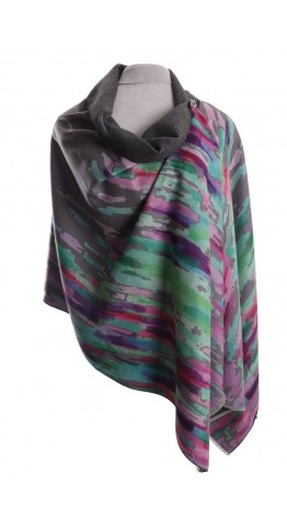Pink Rooster Luxury Cashmere Blend Wrap Water Garden