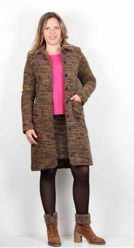 Zilch Clothing Tweed Coat Gold