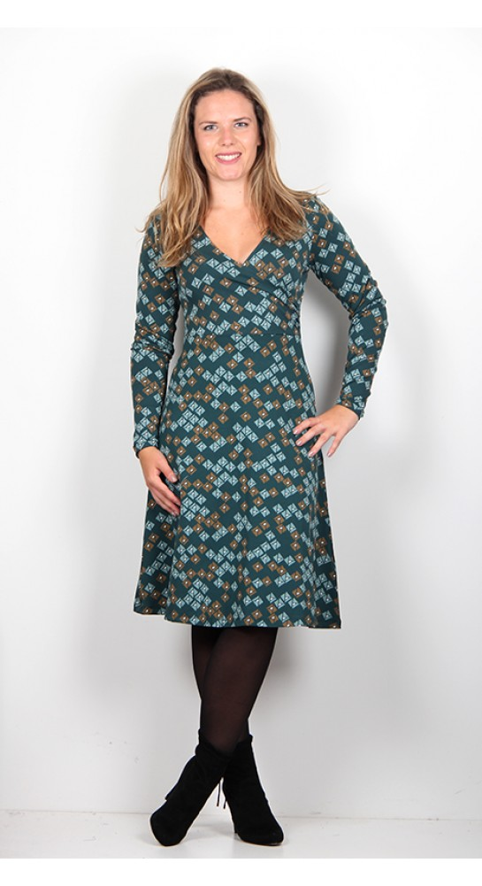 Zilch Clothing Wrap Top Dress Petrol