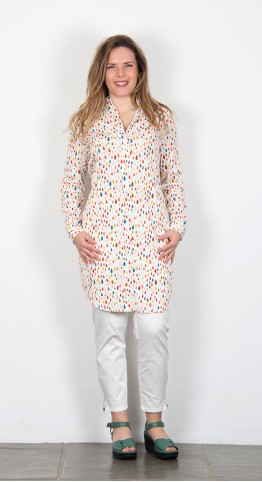 Zilch Clothing Shirt Dress Raindrop