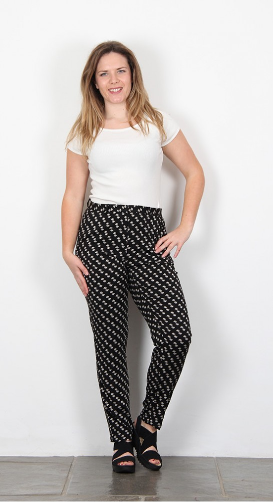 Zilch Clothing Trouser Floral Black White