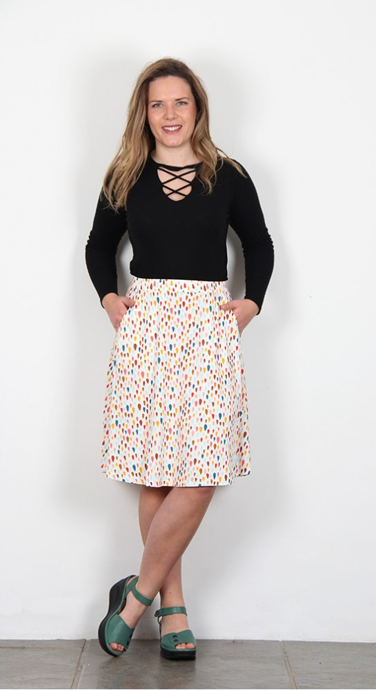 Zilch Clothing Skirt Raindrops