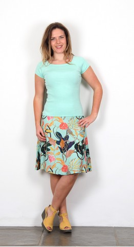 Zilch Clothing Jungle Print Skirt Mint