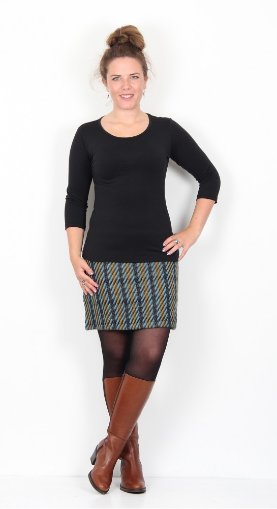 Zilch Clothing Classic Tweed Skirt Forest