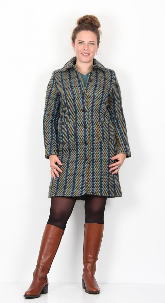 Zilch Clothing Classic Tweed Coat Forest