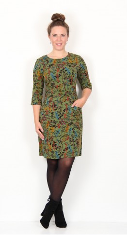 Zilch Clothing Jersey Pocket Dress Twiggy Pesto