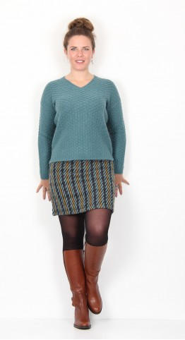 Zilch Clothing Basket Weave Sweater Steel