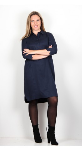 Zilch Clothing Shirt Dress Navy